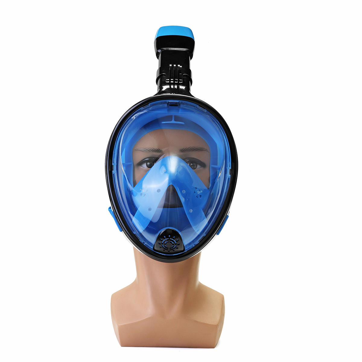 180° Viewing Area Full Dry Snorkeling Mask Fog Resistant Adjustment Diving Mask with a Camera Base - 2