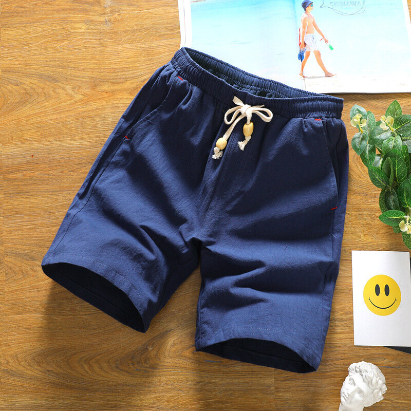 Mens Summer Fashion Breathable Solid Color Casual Shorts - 4