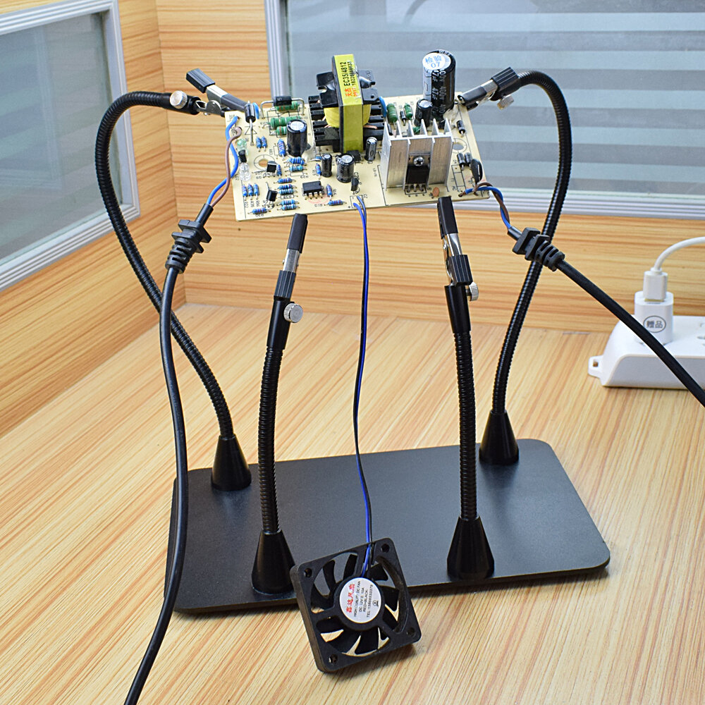 YP-91 PCB Fixture Soldering Helping Hand Soldering Station Third Hand Tool Soldering Repair Tool with Magnetic 160mm Flexible Arm - 2