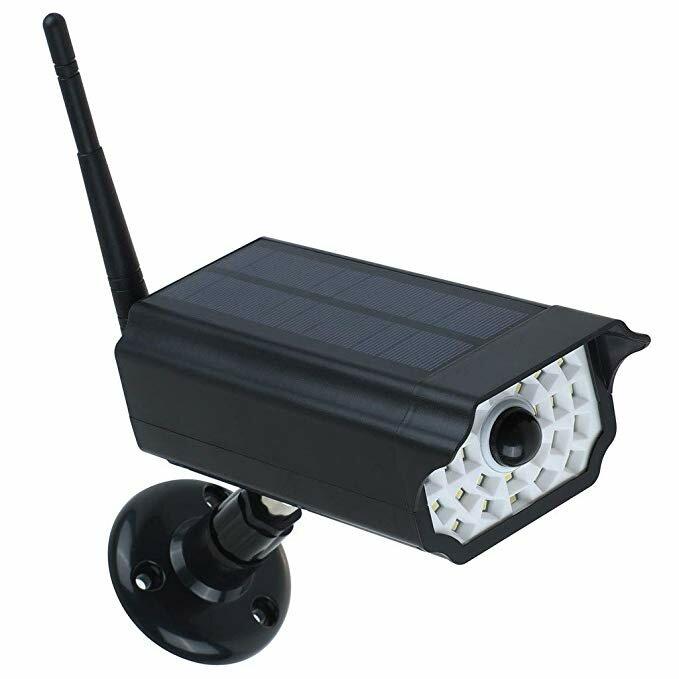 GUUDGO Solaire Clignotant LED Caméras de surveillance Caméras de surveillance Caméra de surveillance vidéo factice Caméra de simulation solaire avec capteur infrarouge - 1