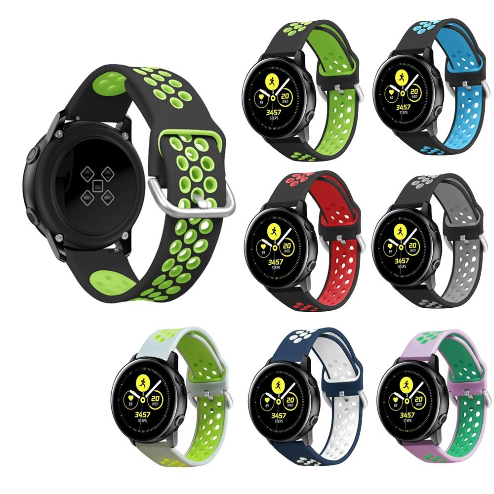 Bakeey 20mm Watch Band Silicone Dual Color for BW-HL1/Galaxy Active/Amazfit Bip Lite/Amazfit Pace Youth Smart Watch