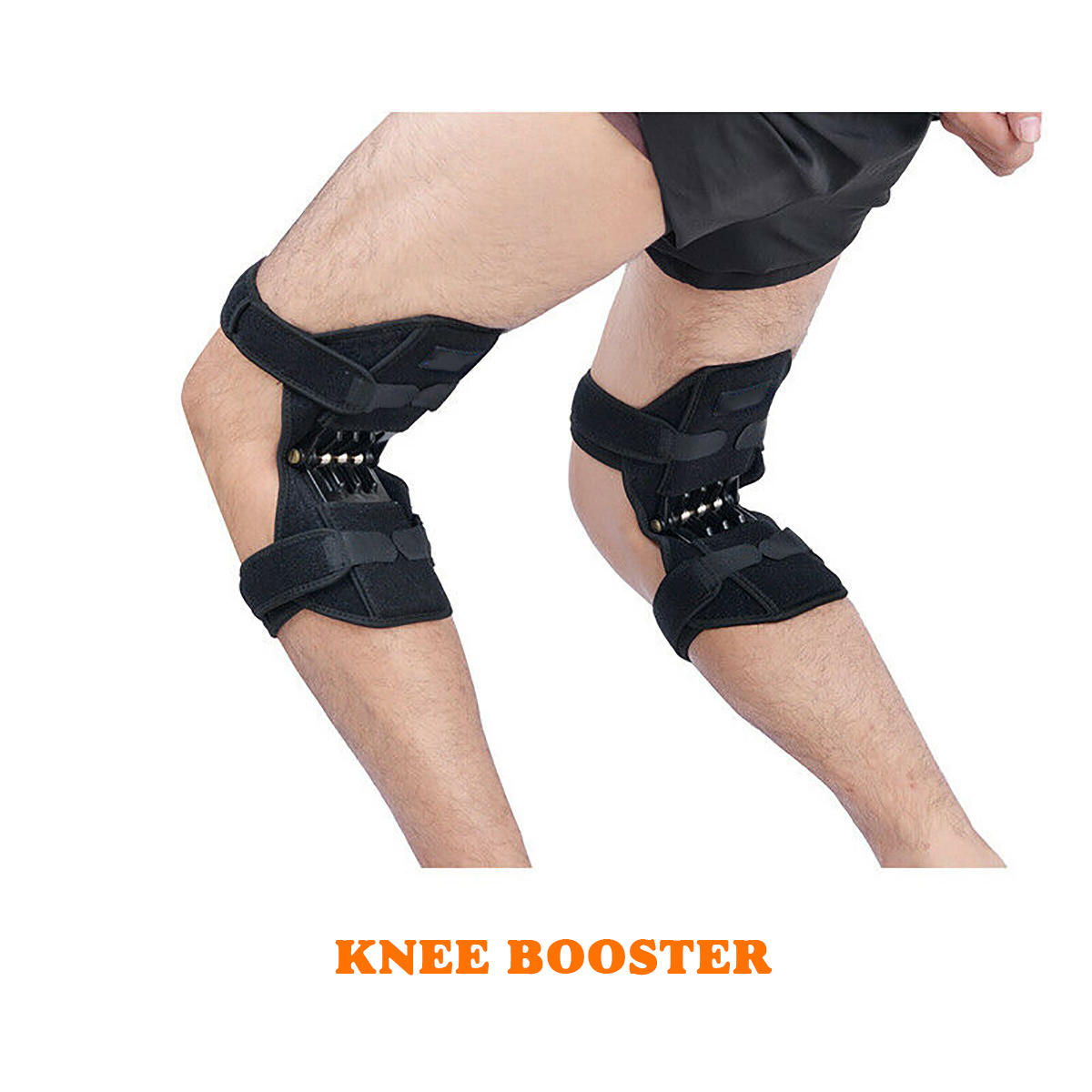 A Pair of Joint Support Knee Pads Breathable Non-slip Power Lift Joint Support Knee Pad Sport Protection