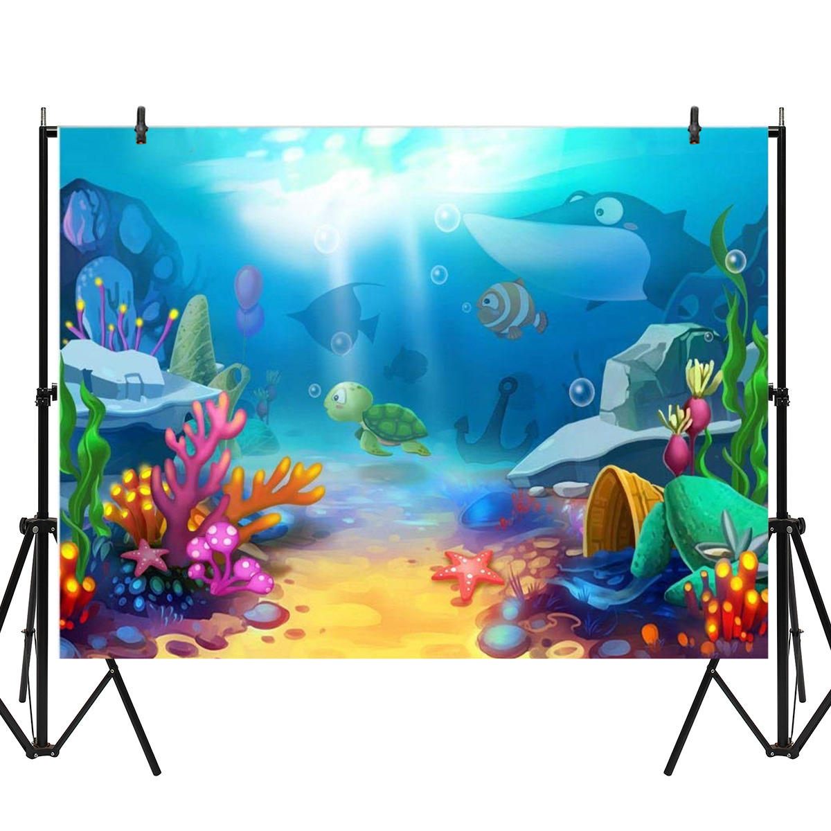 5x3FT 7x5FT 8x6FT Cartoon Sea Fish Photography Backdrop Background Studio Prop, Banggood  - buy with discount