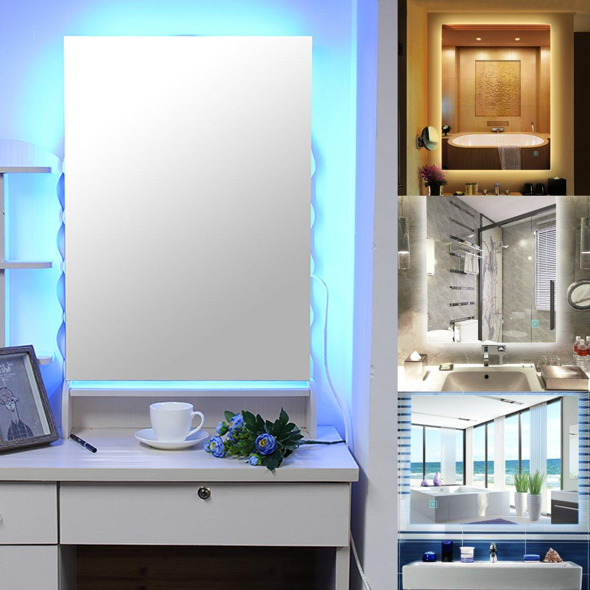 Led Mirrors Wall Mounted Safe Touch