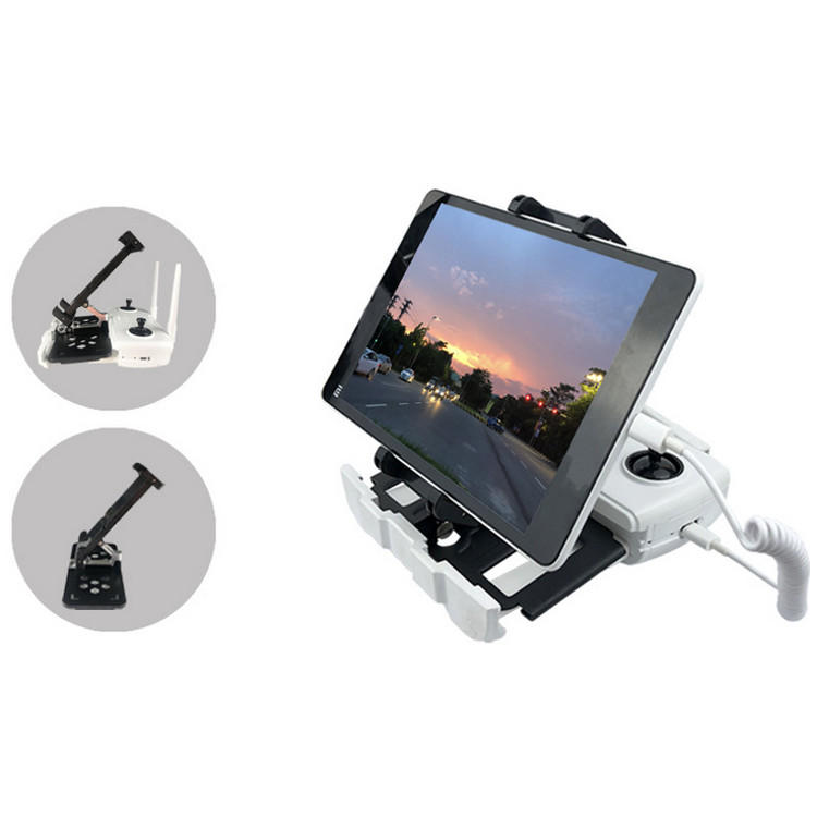 Mobile Phone Tablet Telescopic Folding Bracket Portable Holder Mount Clip for Hubsan ZINO H117S Remote Controller