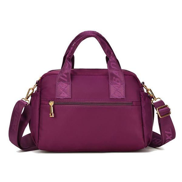 Women Waterproof Crossbody Bag Multi-carry Solid Handbag Crossbody Bag
