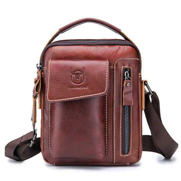 Vintage Genuine Leather Business Bag Shoulder Bag Crossbody - 1