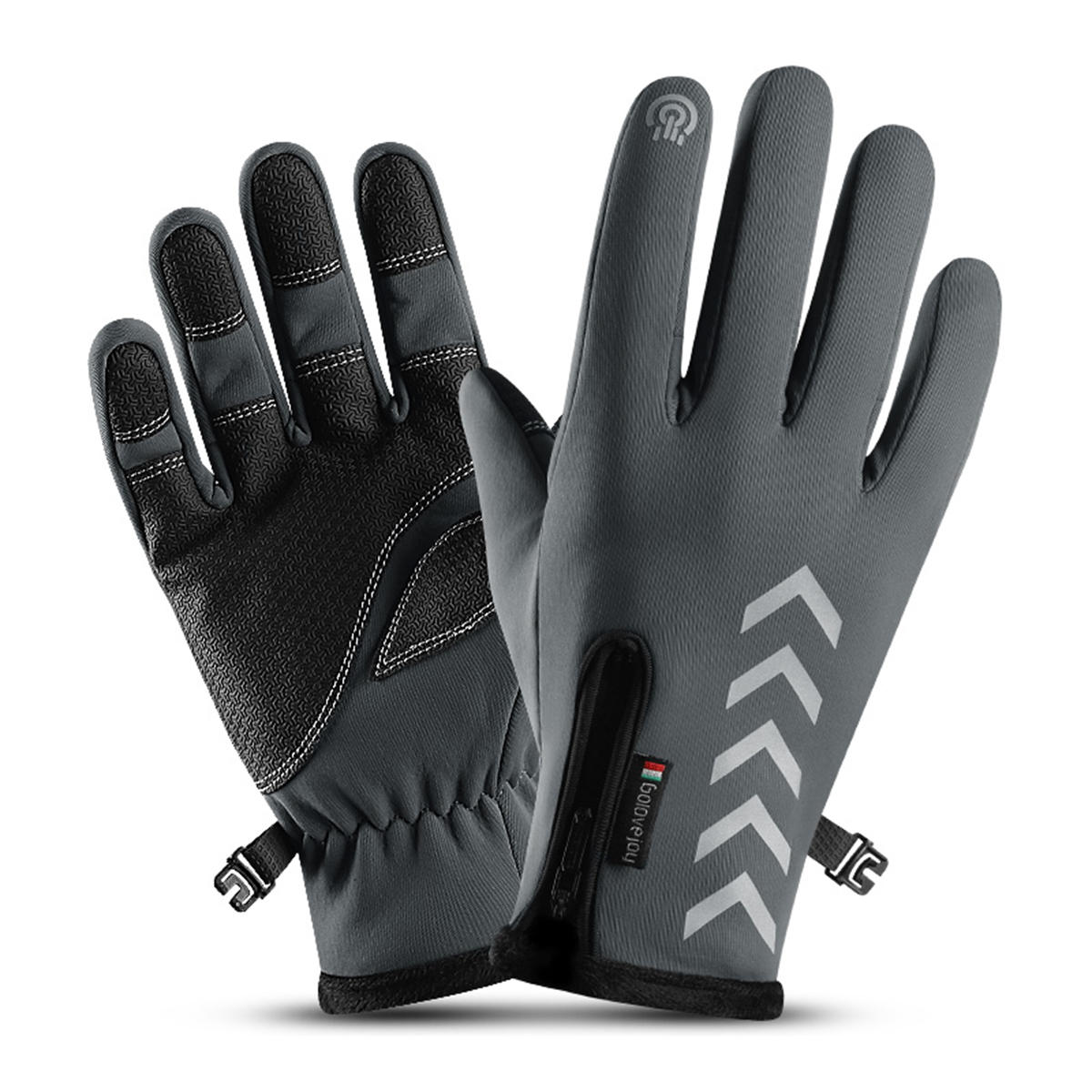 Black Cycling Gloves Full Finger Winter Fleece Bike Bicycle Gloves Touch Screen