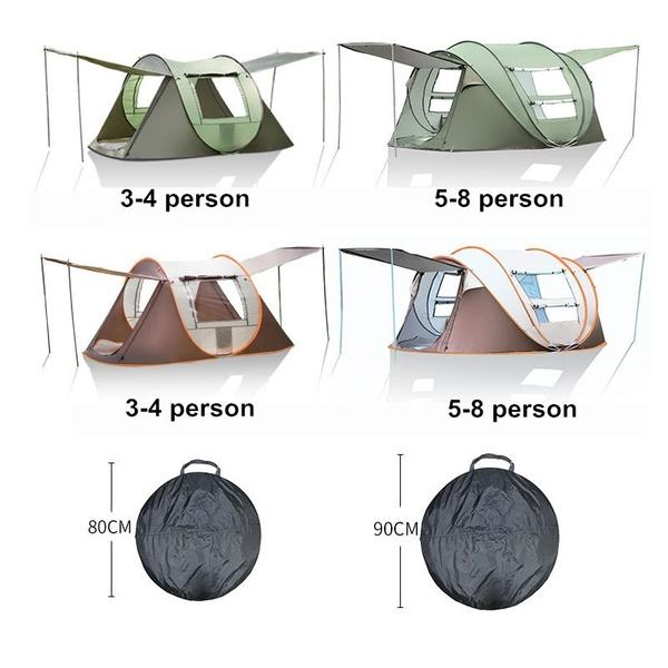 IPRee® 4-6 Person Tent Auto Setup Waterproof Windproof Ventilation Anti-mosquito Camping Tent Carpa - 3