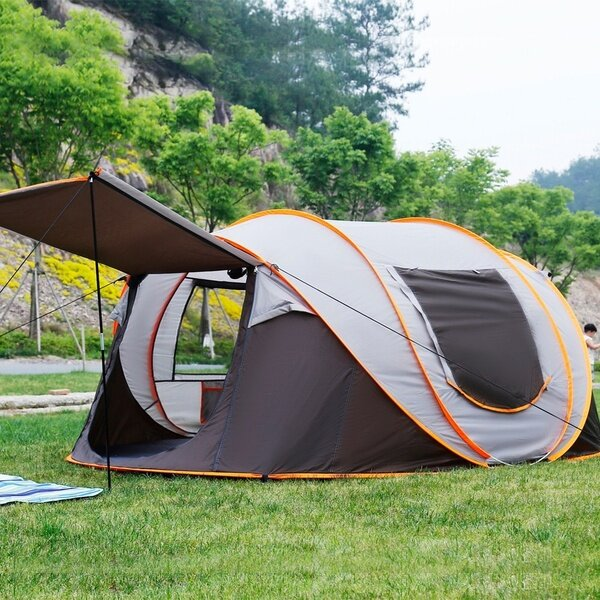 IPRee® 4-6 Person Tent Auto Setup Waterproof Windproof Ventilation Anti-mosquito Camping Tent Carpa - 2