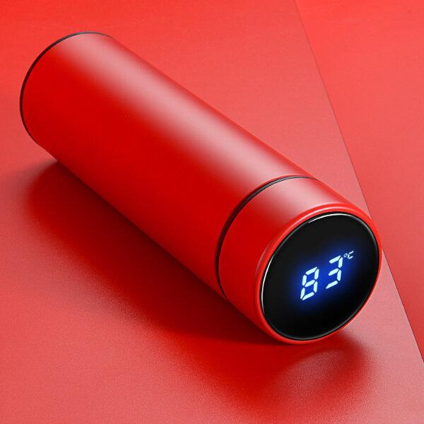IPRee®Termodevacíode500 ml LCD Temperatura Pantalla Botella de agua Acero inoxidable Copa de doble pared aislada - 11