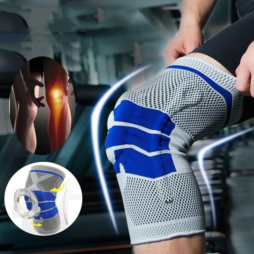 Running Fitness Mountaineering Meniscus  Protective Gear Silicone Knit Spring Knee Pad