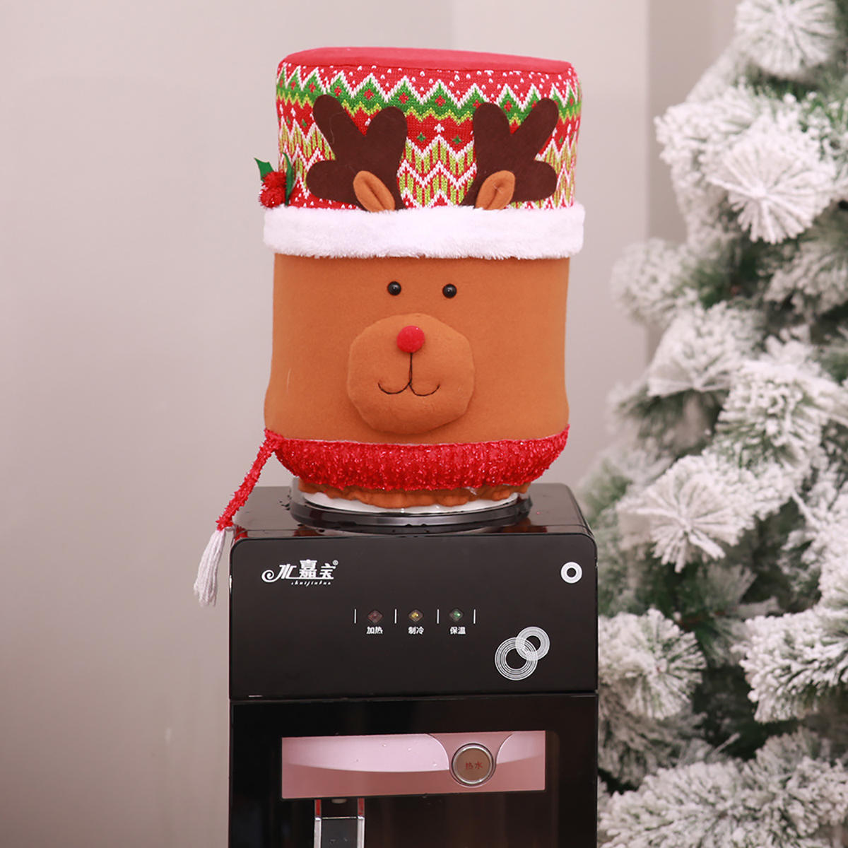 Water Bucket Dispenser Dust Cover Purifier Container Bottle Christmas Xmas Decorations - 3