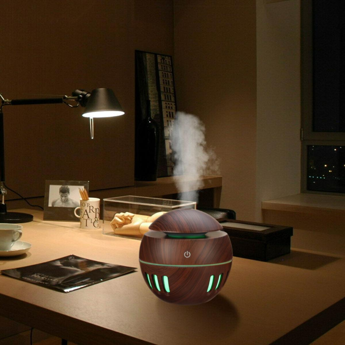 130ML USB Humidifier Air Purifier 7 Color Change LED Night Light Ultrasonic Diffuser Aroma Essential Oil Diffuser Cool Mist Humidifier - 2