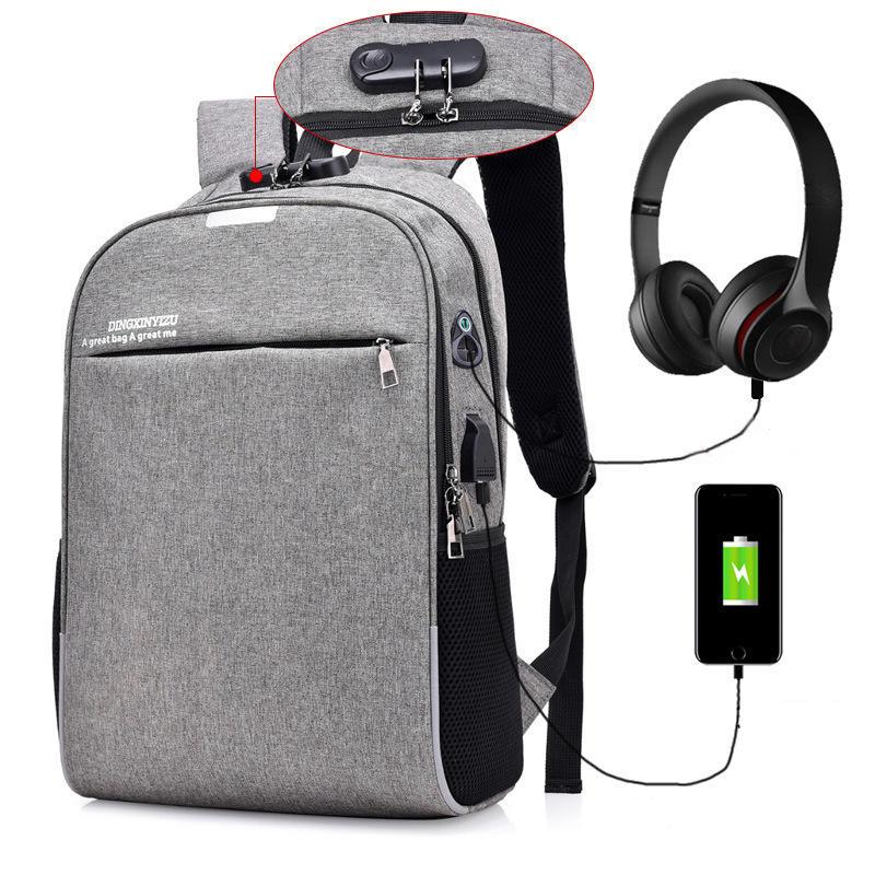 IPRee® 18L Backpack 16inch Laptop Bag USB Charging Headphone Jack Shoulder Bag Anti-theft Luminous School Bag