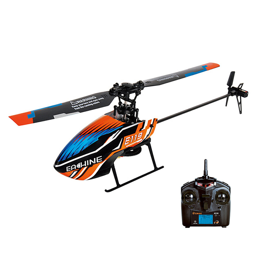 Eachine E119 2.4G 4CH 6-Axis Gyro Flybarless RC Helicopter RTF