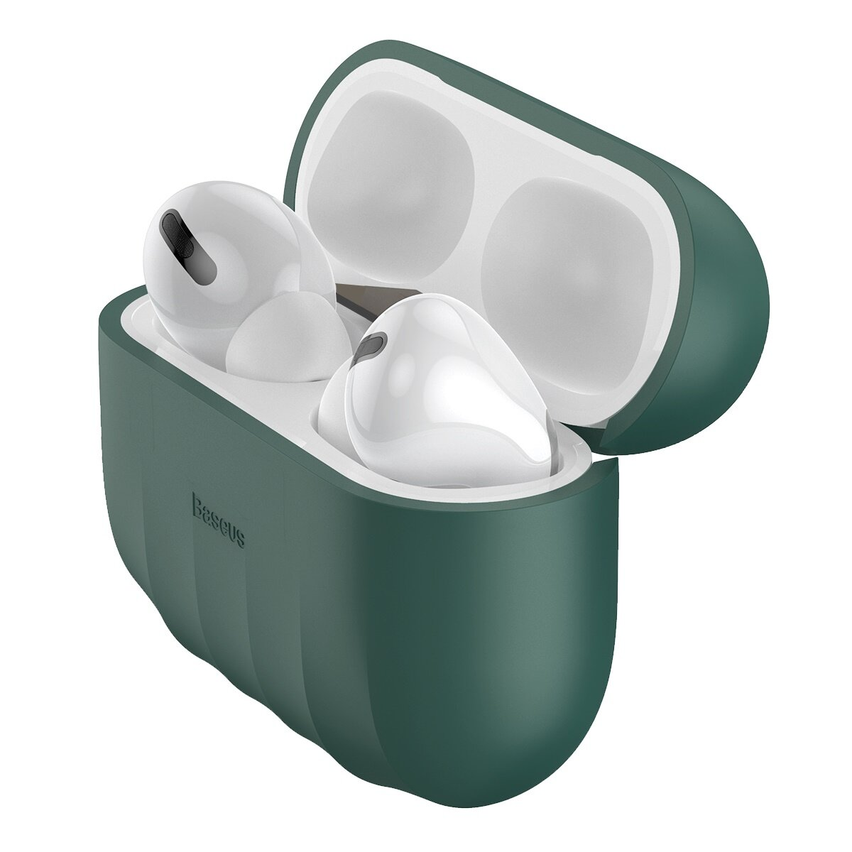Baseus Shell mønster ren silikon støtsikker øretelefon lagringsveske for Apple Airpods 3 Airpods Pro