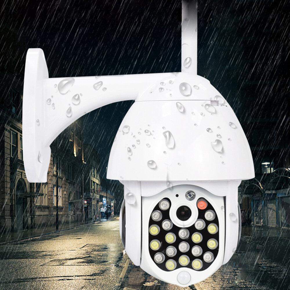 GUUDGO 21 LED IP Kamera 8X Zoom WiFi Dome Gözetim Kamera Tam Renkli Gece Görüşü IP66 Su Geçirmez Pan / Tilt Dönüşü