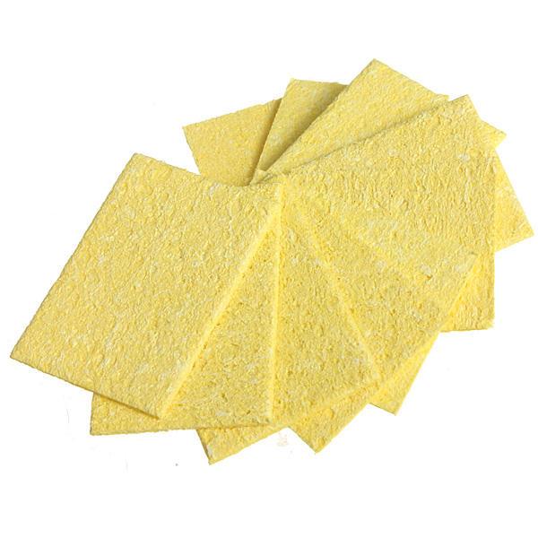 10X Soldering Iron Solder Tip Welding Cleaning Sponge YellowA!RE