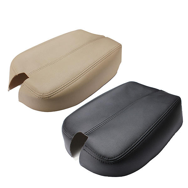 Black Beige Console Real Leather Car Arm Rest Cover for Honda Accord