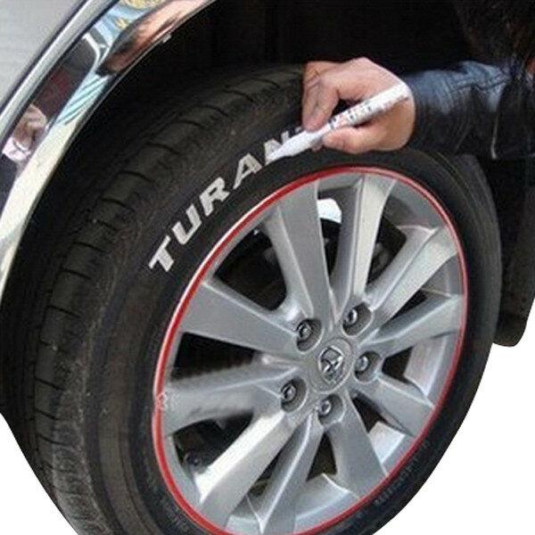 Auto Car Tire Tyre Marker Paint Pen Waterproof White Universal