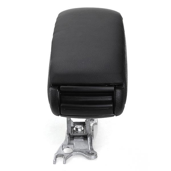 Black Leather Arm Rest Center Console Storage Box for Audi A6 1998 2004 - 5