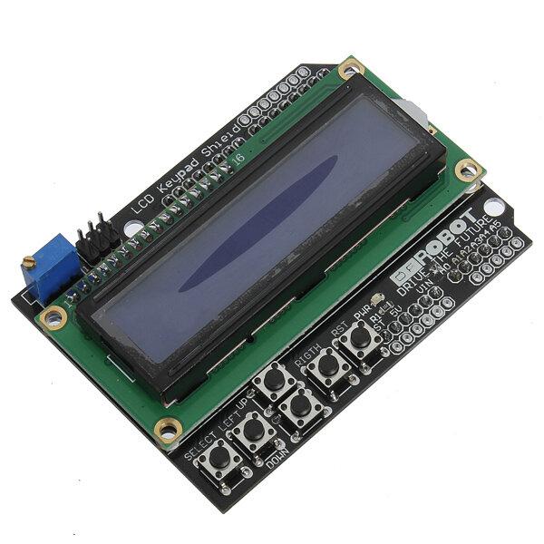 Keypad Shield Blue Backlight For Arduino Robot LCD 1602 Board