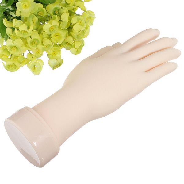 नाखून कला अभ्यास हाथ लचीला सिलिकॉन प्रोस्टेटिक हाथ