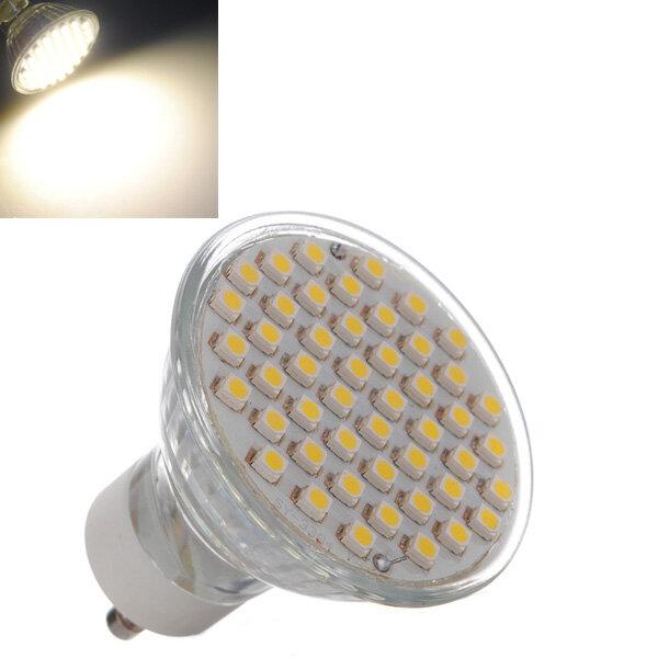 GU10 3W Warm White 48 SMD 3528 LED Spot Lightt Lamb Bulb 195-240V, Banggood  - buy with discount