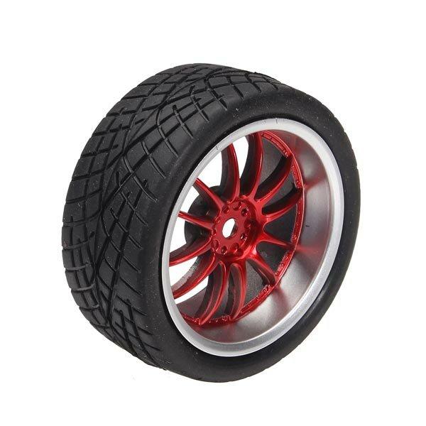 65mm Rubber Tire With Sponge Liner For 1:10 Smart Car Robot