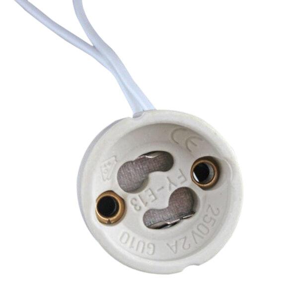 GU10 Socket LED Bulb Halogen Lamp Holder Base Ceramic Wire Connector