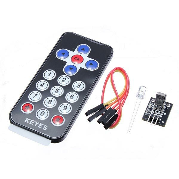 Infrared IR Receiver Module Wireless Remote Control Kit Geekcreit for Arduino - products that work with official Arduino boards