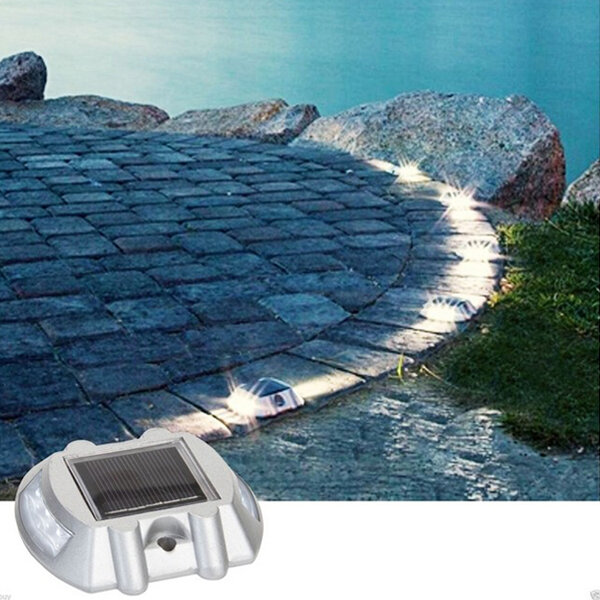 Solar Power White 6led Road Driveway Pathway Stair Lights Sale