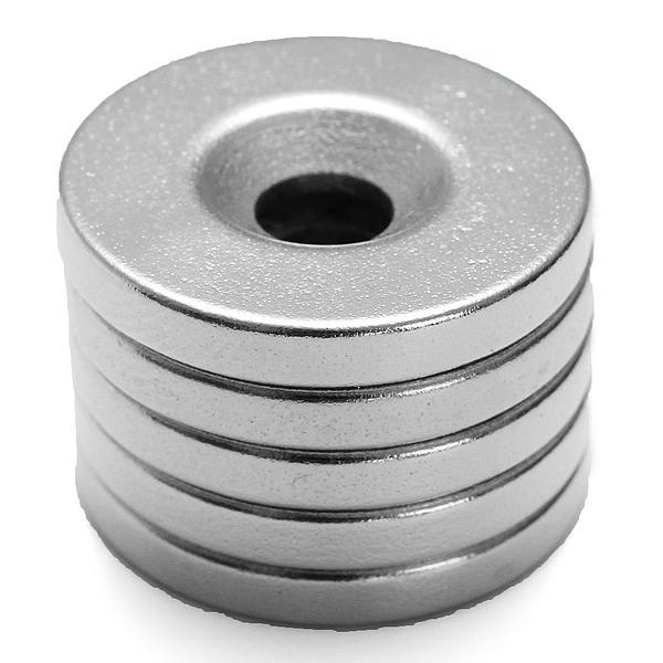 5 Cái Nam châm mạnh 20 mmx3mm Lỗ đất hiếm Neodymium