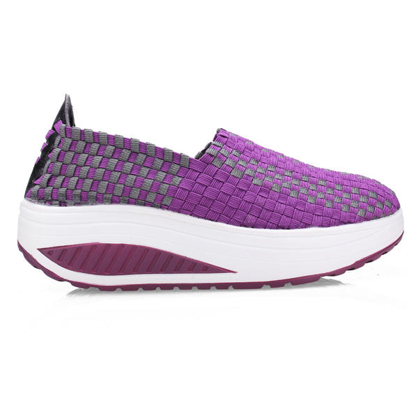 Women's Stretch Casual Breathable Knit Shook Shoes Sneakers - 2
