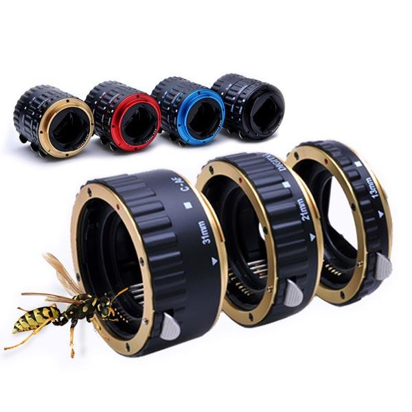 Metal Auto Focus AF Macro Extension Tube Lens Adapter Ring for Canon EOS/>b
