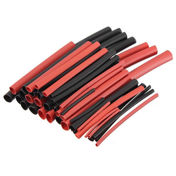 42 قطع 2: 1 البولي h- نوع الحرارة يتقلص أنبوب التغطيه أسود أحمر