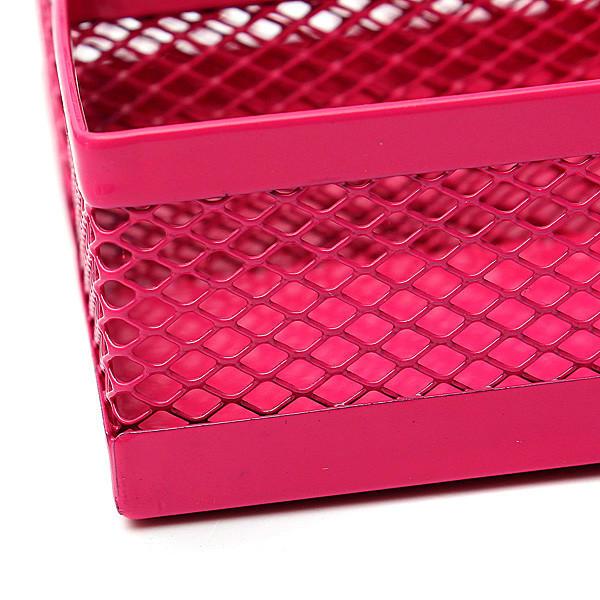 Metal Mesh Cosmetic Makeup Brush Pen Office Desktop Storage Box - 11