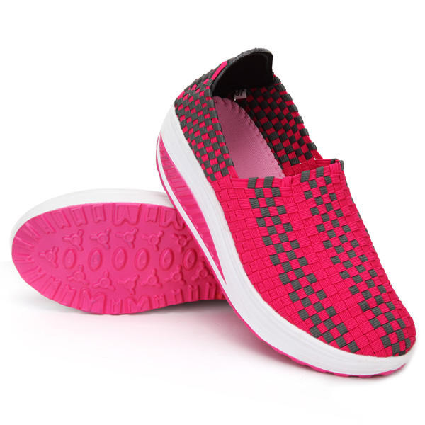 Women's Stretch Casual Breathable Knit Shook Shoes Sneakers - 9