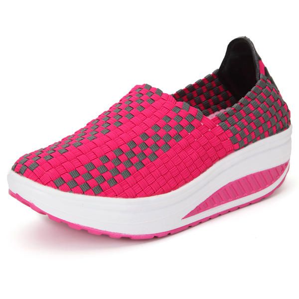Women's Stretch Casual Breathable Knit Shook Shoes Sneakers - 6