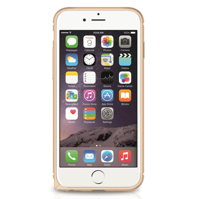 Metal Arc Border Magic Protector Frame For iPhone 6 6s 4,7 tommer