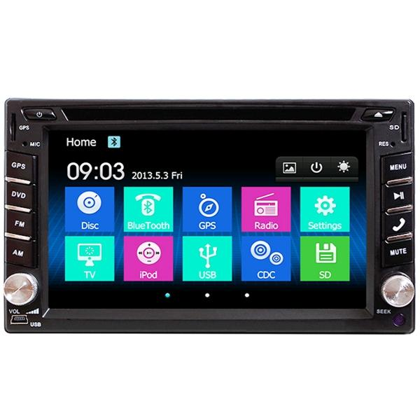 6 2 Inch Double 2DIN Car Stereo DVD Player bluetooth GPS Navigation HD USB  TV Camera