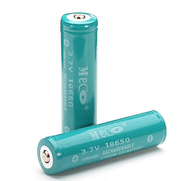 2Stücker MECO 3.7v 4000mAh geschützte nachladbare 18650 Li-Ion Akku