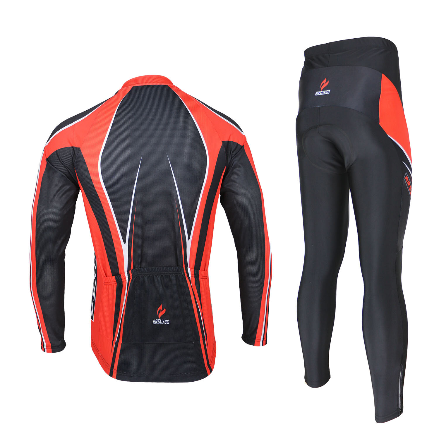 Mens Bicycle Bike Clothing Suit Cycling Cloth Sportswear Bib Shorts - 4