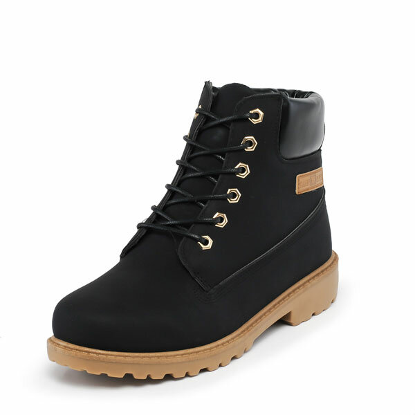 New Men Fashion High Boots Comfortable Flat Casual Outdoor Boots Shoes - 1