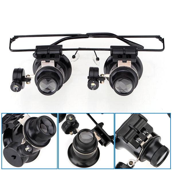 20X Magnifier Eye Loupe Lens Jeweler Watch Repair LED Light - 1