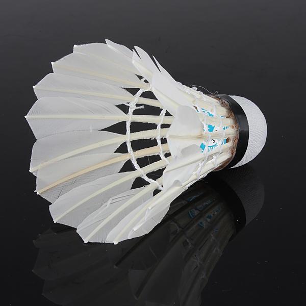 6 x White Goose Feather Badminton Ball Game Sport Training - 5