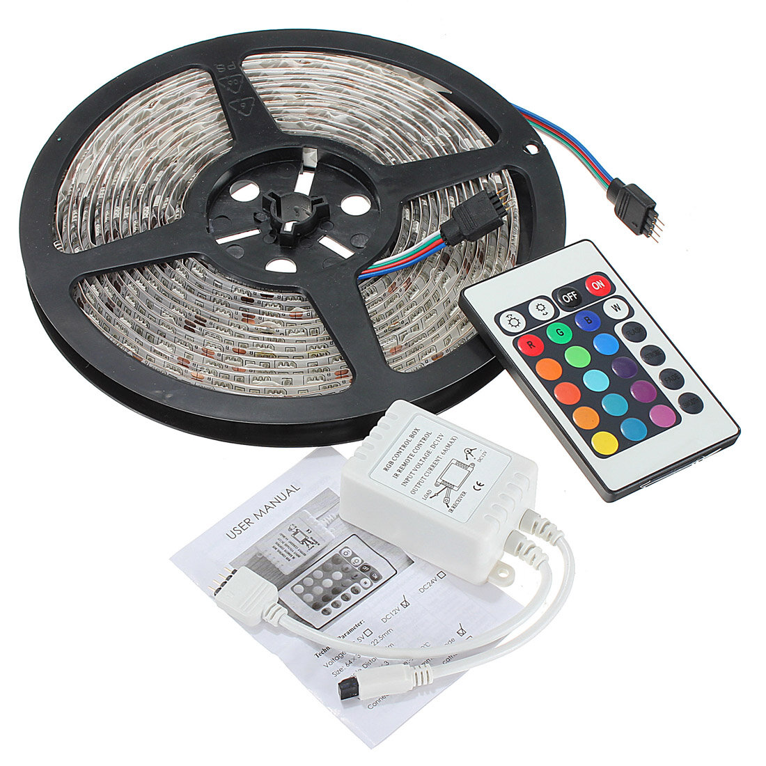DC12V 5IN1 RGB+CCT LED Strip Light 5050 Flexible Tape Non-waterproof Indoor Lamp Home Decor - 7