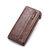 メンズPUレザーソリッドロング電話財布11カードスロットウォレット