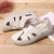 US Size 5-12 Hollow Out Breathable Slip On Soft Comfortable Sandals